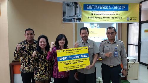 Prodia Beri Bantuan MCU ke Petugas BPBD Riau