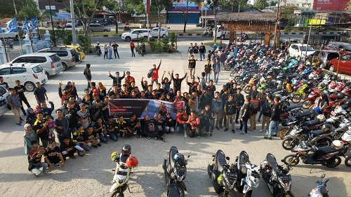 CDN Ajak 130 Bikers Nongkrong Bareng All New BeAT