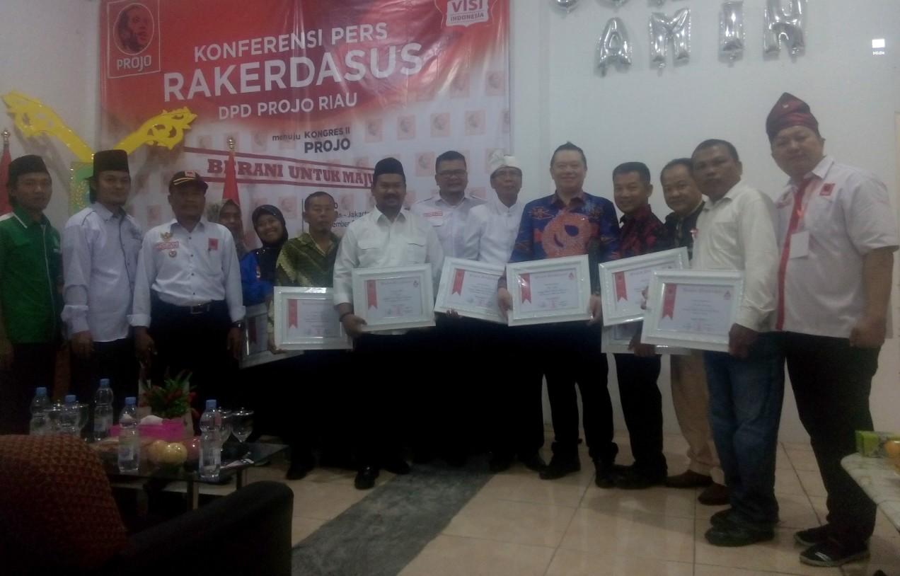 Projo Riau Gelar Rakerdasus