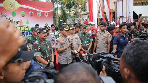 Tinjau Posko Karthutla Riau, Panglima TNI dan Kapolri Berikan Apresiasi