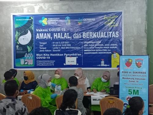 RSAU dr Sukirman Lanud Rsn Bantu Pemda Vaksinasi Warga