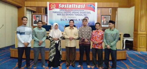 Anggota MPR/ DPR Sosialisasikan Empat Pilar Kebangsaan ke Mahasiswa Rohul